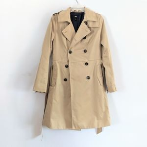 H&M Double Breasted Belted Trench Coat